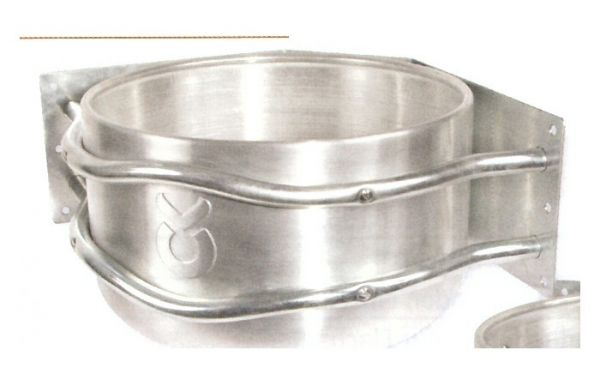 Aluminium-Futtertrog, rund