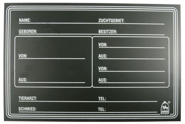 "Stallabstammungstafel Modell ""PFIFF"""