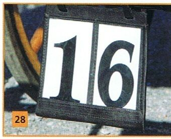 Lessing - Kutschen-Startnummern