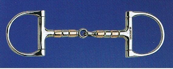 SPRENGER - Kupfer-Rollengebiss D-Ring