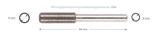 DICK - Maschinen-Diamantschleifstift