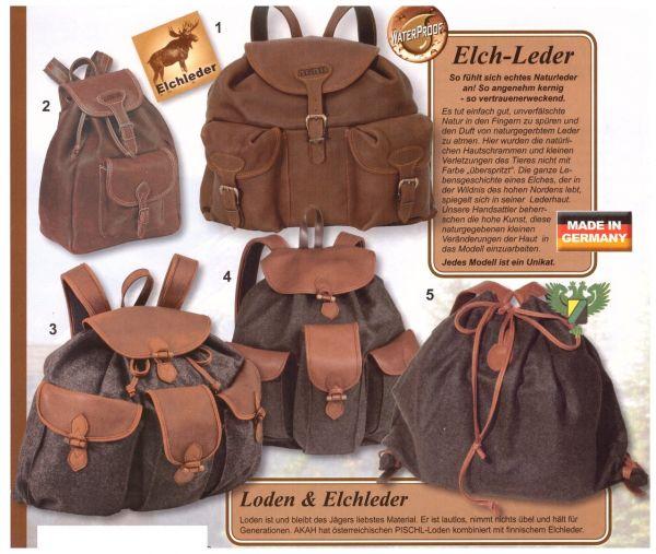 AKAH - Gebirgsrucksack LODEN/ELCH-Leder